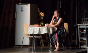 Rueful … Sharon Carty as Amy.