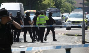 Police activity at a cordon in the Hulme area of Manchester where an army bomb disposal team was sent after staff at a college raised an alert.