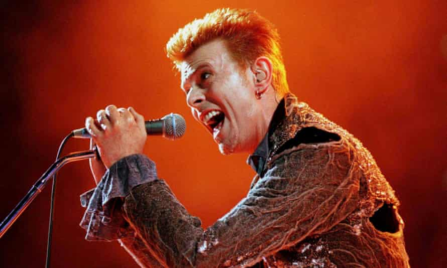 David Bowie in Athens, 1996. Photograph: Reuters
