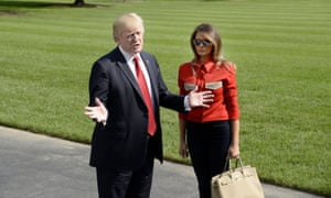 The first couple returning from Camp David last weekend.