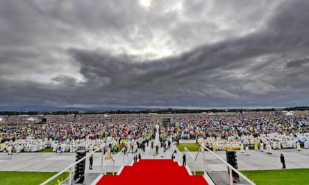 The closing Mass by Pope Francis at the World Meeting of Families in Phoenix Park in Dublin.