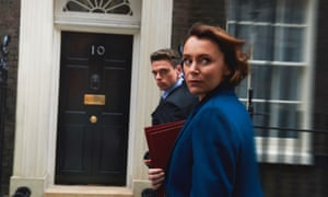 Keeley Hawes as Julia Montague, with Richard Madden as her bodyguard David Budd, in the BBC's hit thriller.