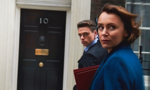 Power games and PTSD … Richard Madden as David Budd and Keeley Hawes as Julia Montague.