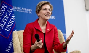 Elizabeth Warren said in the video: 'Working families today face a lot tougher path than my family did.'