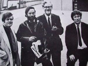 From left: Michael Longley, Mahon, John Hewitt and Seamus Heaney, 1960s