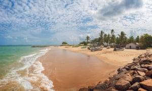 The beach near Kalpitiya, Sri Lanka