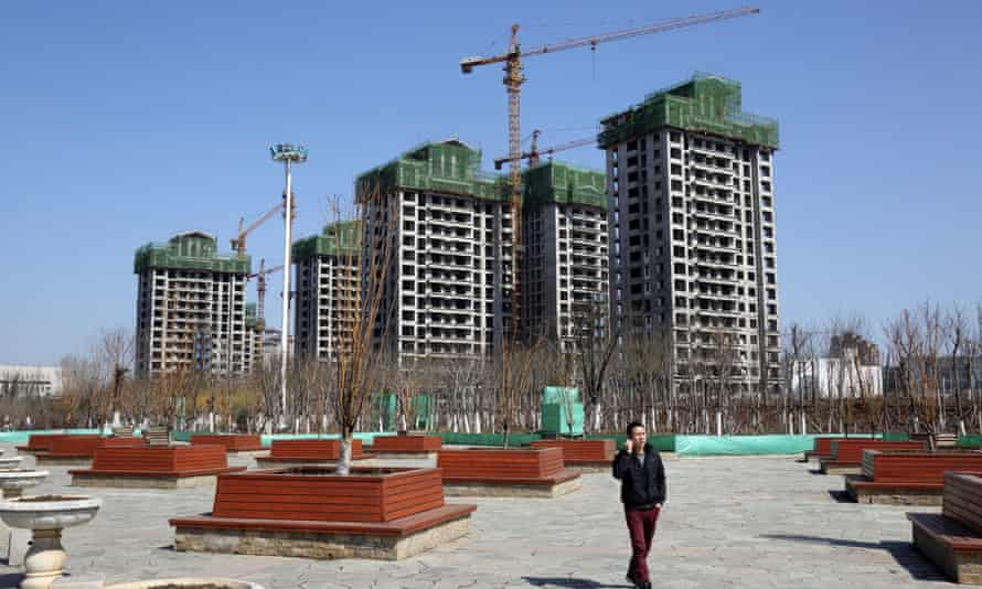 Construction taking place in the Sino-Singapore Tianjin Eco-city, 2013.
