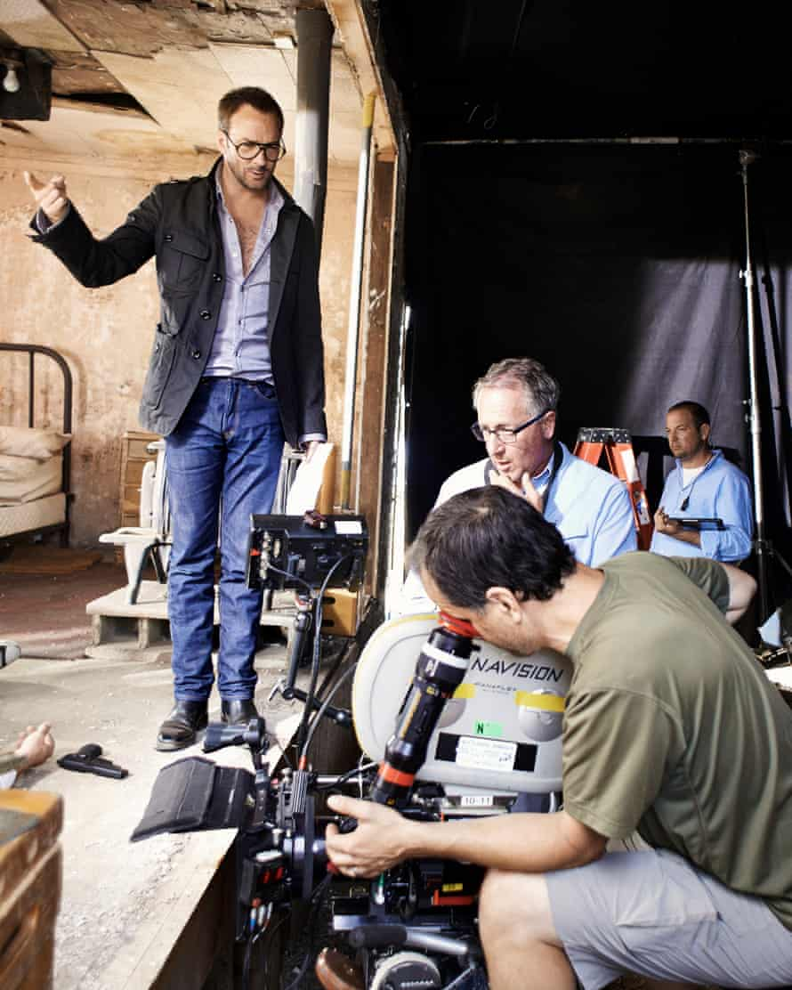 Tom Ford on the set of Nocturnal Animals.