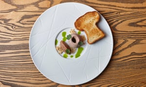 'Smooth, whipped and glossy': chicken liver parfait.