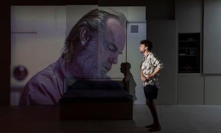 Hugo Weaving as Dr Gibarian and Keegan Joyce as Ray in Solaris