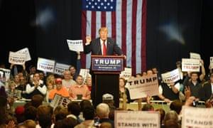 Donald Trump speaks at a rally in Birmingham, Alabama