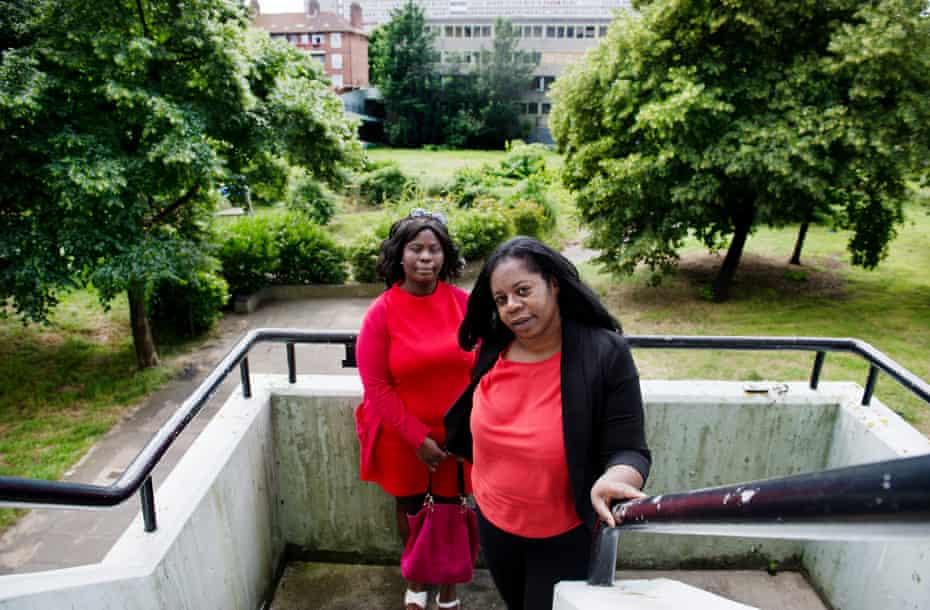 Aylesbury estate residents Beverley Robinson (right) and Nike Akinwande.