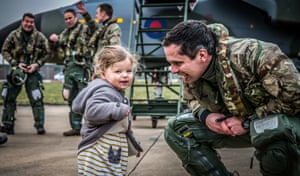 Personnel category, first place. A pilot celebrating his final flight in a Tornado with his daughter at RAF Marham. he Tornado retired form service this year after 40 years.