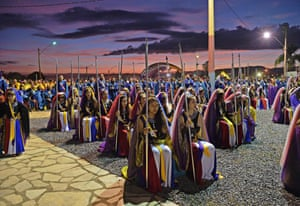 Nymphs take part in their biggest ceremony of the year at their temple complex