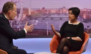 Shami Chakrabarti on the Andrew Marr Show