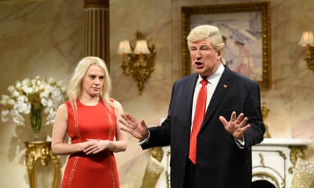 Kate McKinnon as Kellyanne Conway and Alec Baldwin as Donald Trump on Saturday Night Live.
