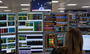 The trading floor of ETX Capital in London today.