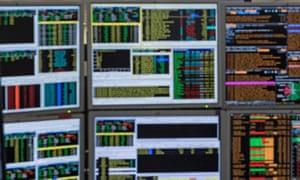 The trading floor of ETX Capital