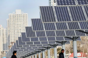 Solar power panels installed for public electricity supply in Shenyang, in northeast China.