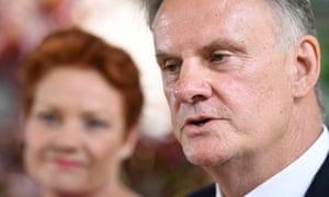 Mark Latham backed by Pauline Hanson