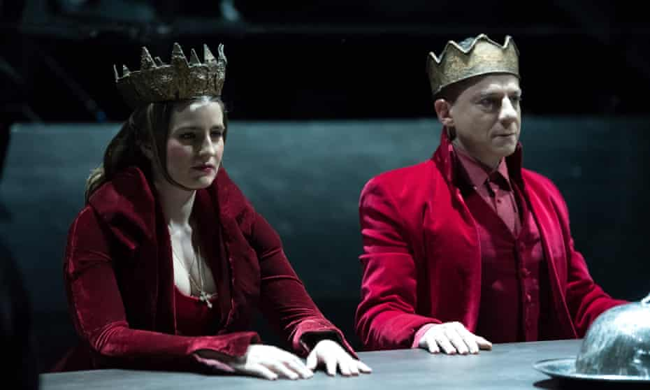 Surreal … Dimitris Lignadis, right, as Macbeth at the National Theatre of Greece.