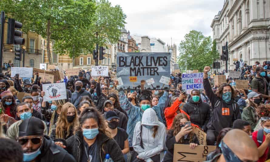 Black Lives Matter protests in London, 7 June.