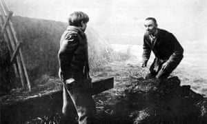 Pip's first encounter with Magwitch in David Lean's film of Great Expectations (1947).