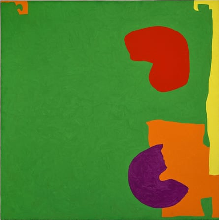Square Green With Orange, Violet and Lemon: 1969 by Patrick Heron.
