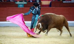Bullfighter Cayetano Rivera in the ring in Jaen, southern Spain, in October 2019.