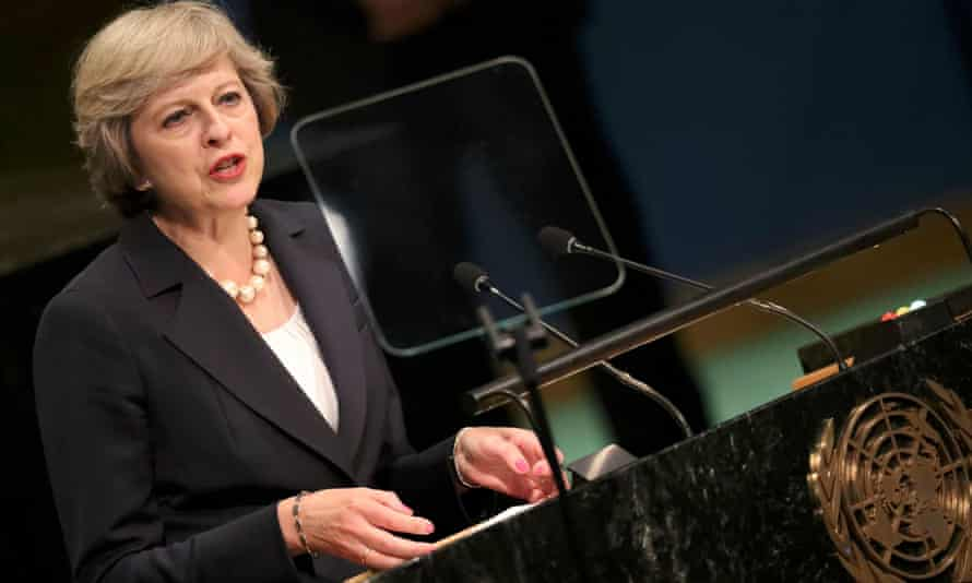 Theresa May visited New York in September where she addressed the 71st United Nations General Assembly.