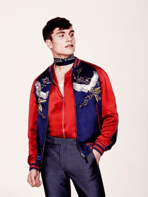 Men's Souvenir jackets: key fashion trends of the season – in pictures
