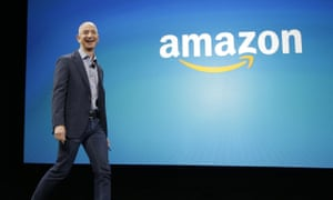 Jeff Bezos boasted of the success of a range of new services: 'The teams at Amazon have been working hard for customers.'