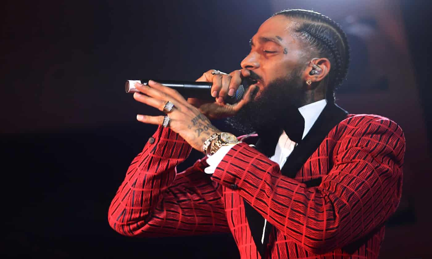 Nipsey Hussle: community outraged at 'disgusting' LAPD investigation into rapper's business