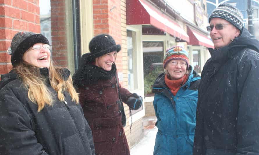 Barbara Curtis, Emily Martz, Emily Warner and Pete Benson are organizing an Alternative Inauguration Party in Saranac Lake to celebrate Hillary Clinton winning the popular vote.