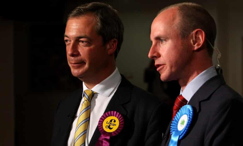 Nigel Farage and Daniel Hannan in 2009.