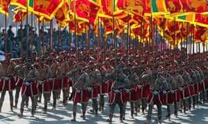 Colombo, Sri Lanka. Special task force soldiers during the 70th Independence Day parade
