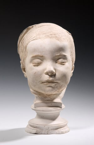 James Gibson Powers - Hiram Powers.   Five-year-old James Gibson Powers died in 1838 of 'water on the brain' and his father, the sculptor Hiram Powers, created a mold of his head.