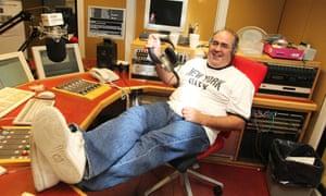 Danny Baker at the BBC radio studios in London.