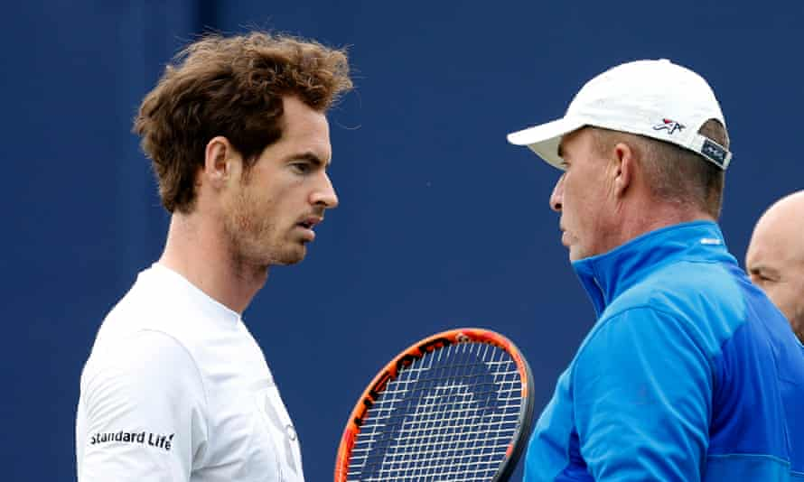 Andy Murray, after beating Milos Raonic in the Queen's Club final, said of Ivan Lendl, right: 'He was definitely happy with this week because of the way that I fought, the way that I played in the big moments.'