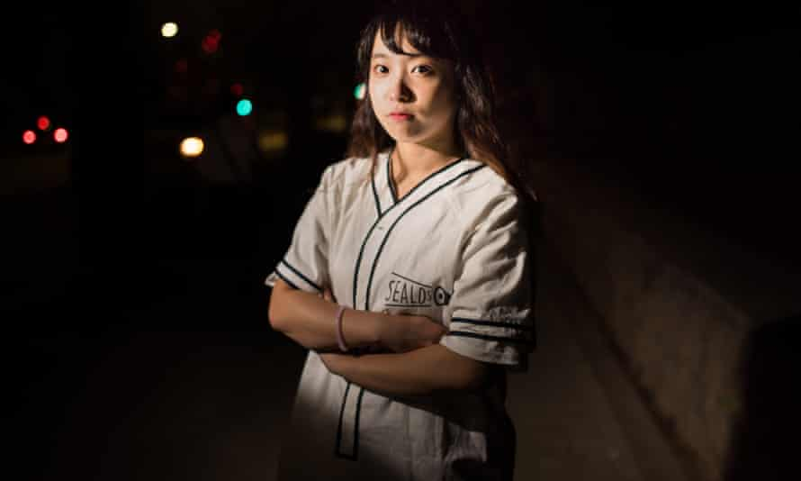 Moeko Mizoi, a Sealds protester against Japanese troops deploying overseas.