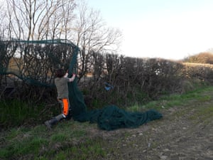 David Savage, Derbyshire wildlife officer, who took down the hedge netting.