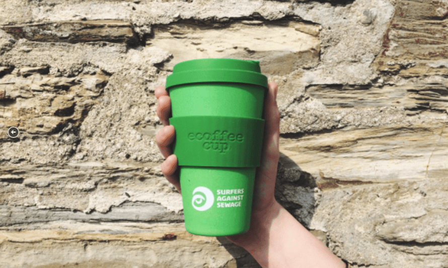 Surfers Against Sewage reusable bamboo coffee cup