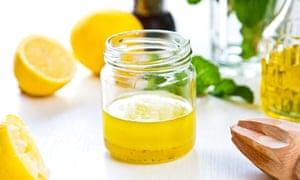 Homemade Lemon vinaigrette by fresh ingredients