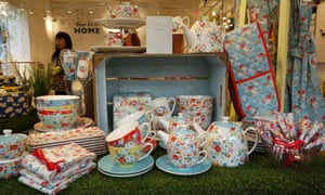 Products on display in Cath Kidston store