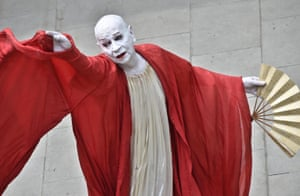 Lindsay Kemp performs during the show Kemp Dreams Kabuki Courtesans at the Museo Novecento in Florence, Italy, 15 June 2017