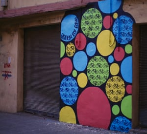Better by bike - small impromptu wall in mar mikhael 2015