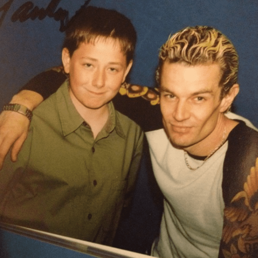 Jack Milson with James Marsters, who played Spike.