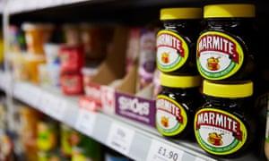 Jars of Marmite on a shelf