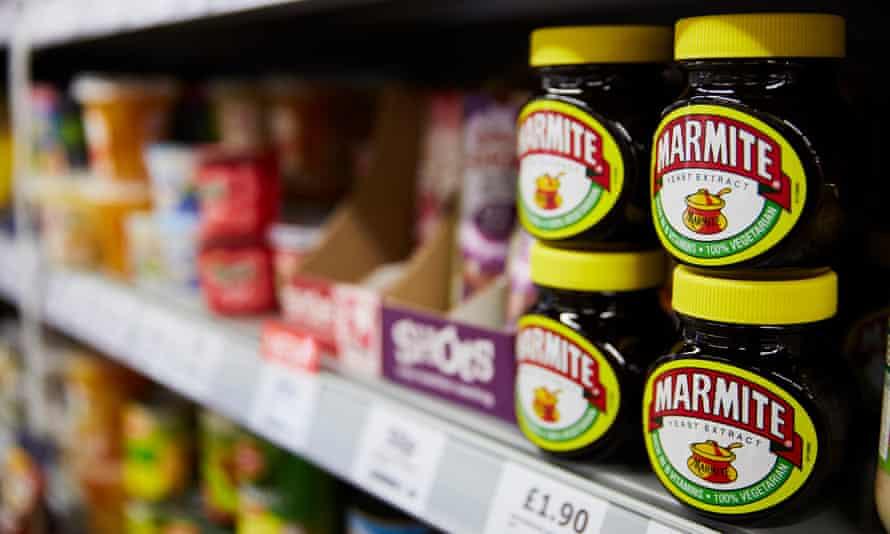 Marmite on the supermarket shelf