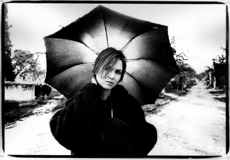 Grave danger: Juliana Hatfield poses in a London cemetery in the early 90s.